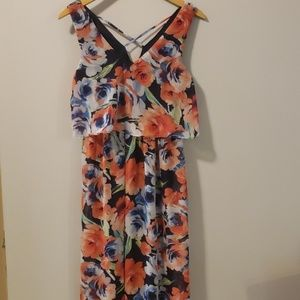 Lily Rose Maxi Dress XS EUC Floral
